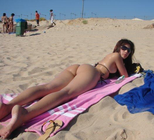 tanga en playa